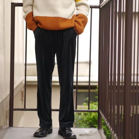 Velours wide easy pants