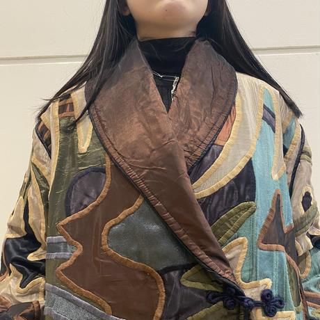 80s~ switching design shawl collar  jacket