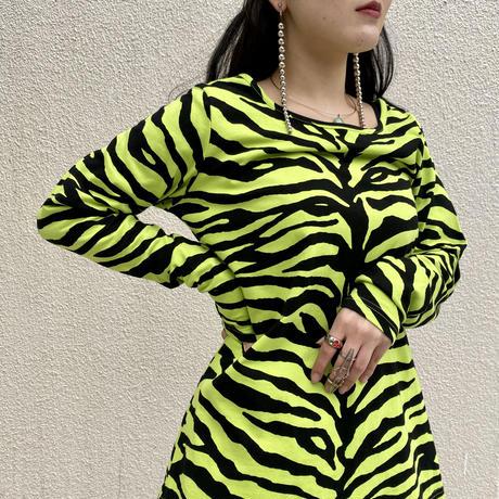 old zebra patterned L/S tee