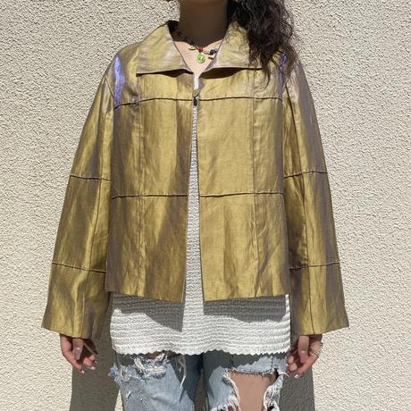 90s~ shiny linen jacket
