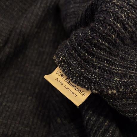 90s oversized indigo dyeing hooded sweater