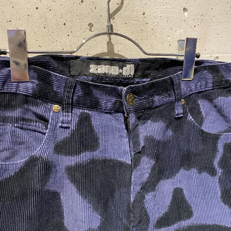 90s all patterned flare corduroy pants