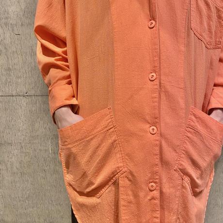 80s~ design open collar shirt