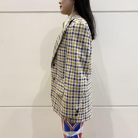 70s checked tailored jacket