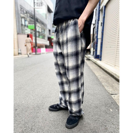 90s flannel checked easy pants