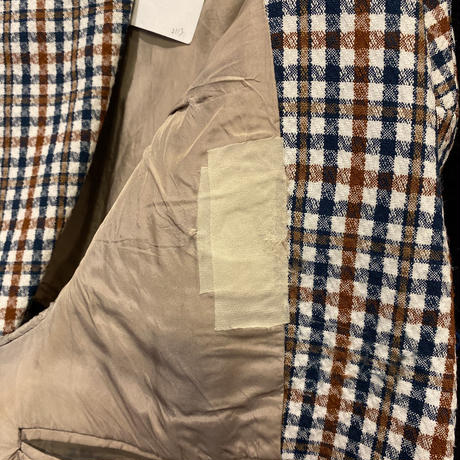 70s~ checked tailored jacket