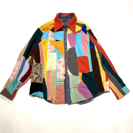old patchworked shirt