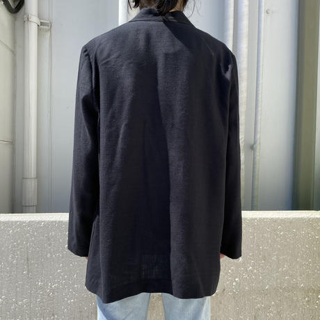 90s rayon blend easy tailored jacket