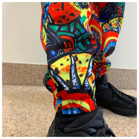 90s poly design pants