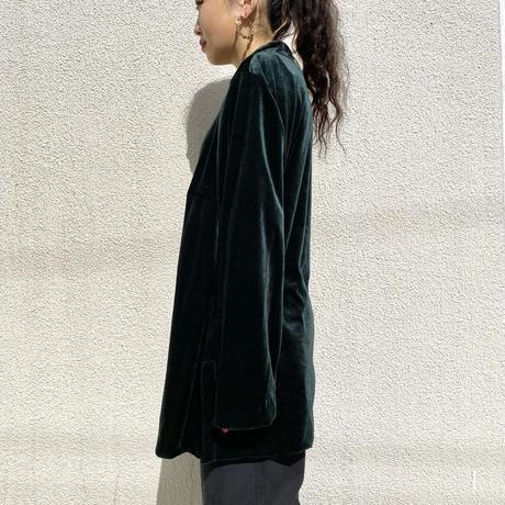 90s~ design velours shirt