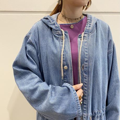 90s oversized design denim jacket