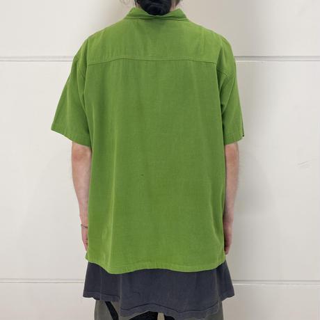 S/S stand collar shirt