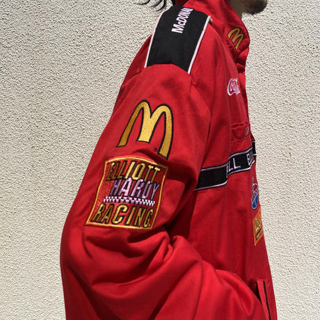 "90s~ ""McDonald's"" racing jacket"