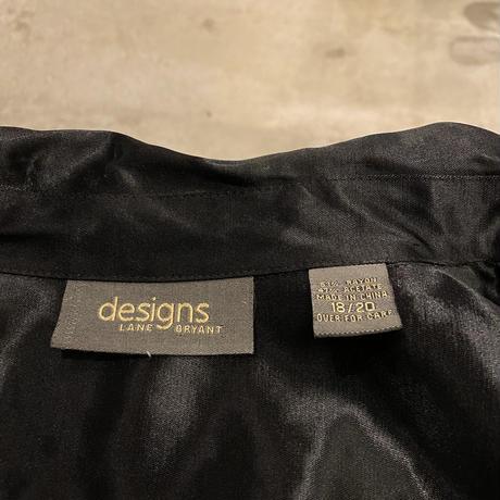 90s zip up shiny shirt