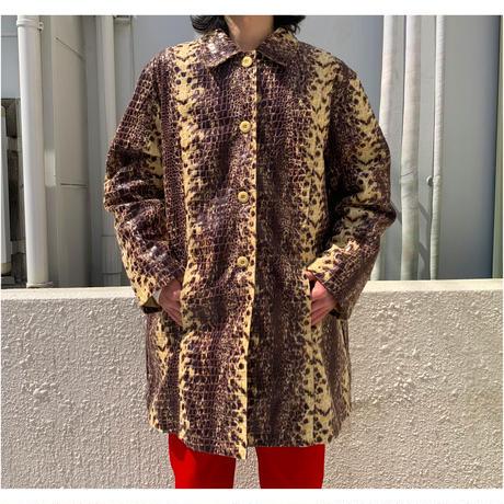 90s oversized python pattern jacket