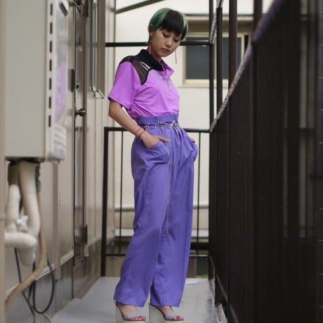 color easy straight pants(PPL)