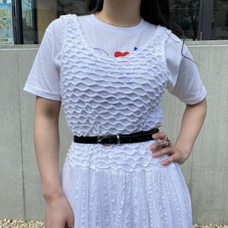 90s cotton×rayon design dress