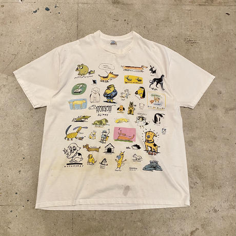 "90s~ ""SHOE BOX GREETINGS"" printed T-shirt"