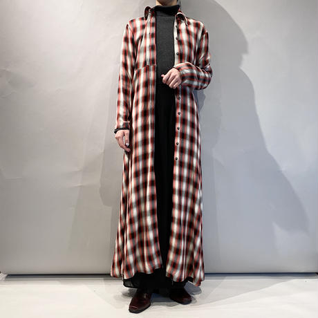 """""""GUESS"""" shadow checked rayon one-piece"""