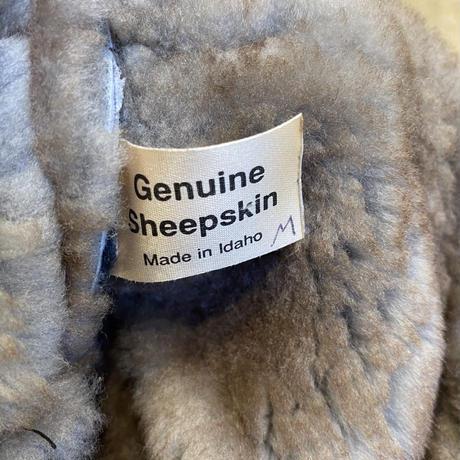 sheepskin flight cap
