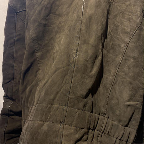 old leather rider's  jacket