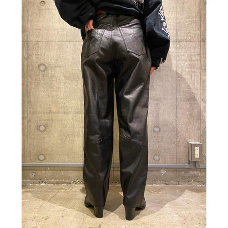 90s〜 wide leather pants