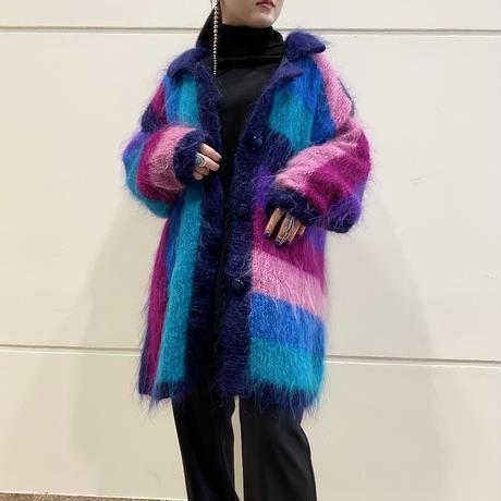 80s〜mohair knit shirt