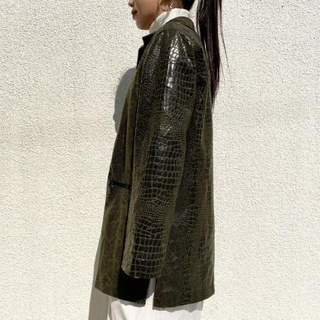 90s〜python patterned zip jacket