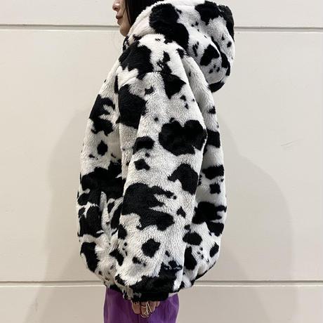 reversible holstein pattern jacket