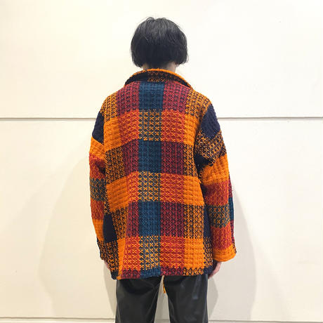 old checked L/S knit shirt