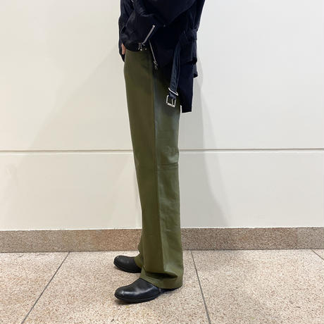 (NEW) leather flare pants