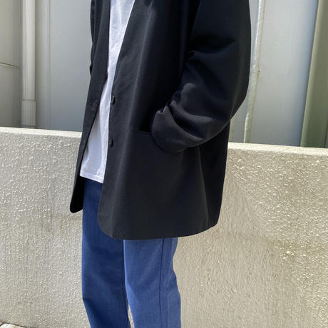 80s~ oversized no-collar tailored jacket