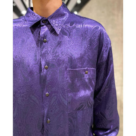 paisley pattern shiny L/S shirt
