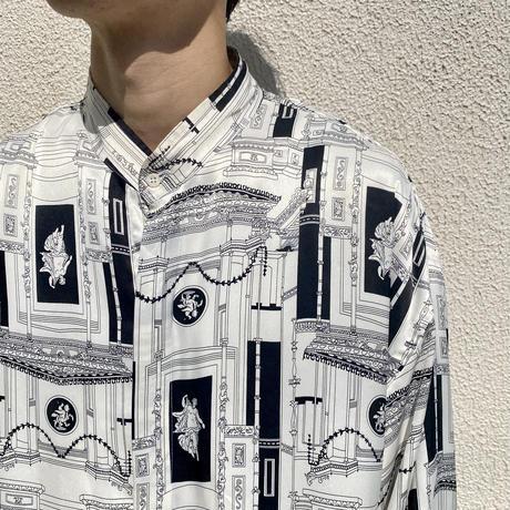 old oversied band collor shirt