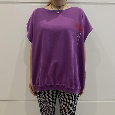 "90s ""RED ERASER"" no-sleeve sweat shirt"