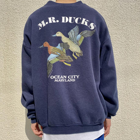 "90s ""M.R. DUCKS"" sweat shirt"