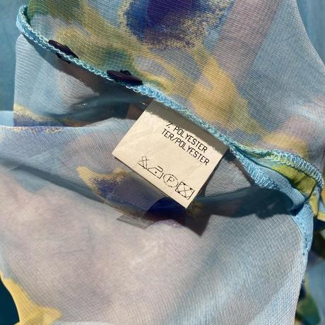 old flower patterned sheer shirt