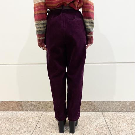 90s two tucks corduroy tapered pants