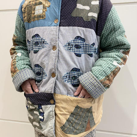 "80s〜""Patch Magic"" reversible design jacket"