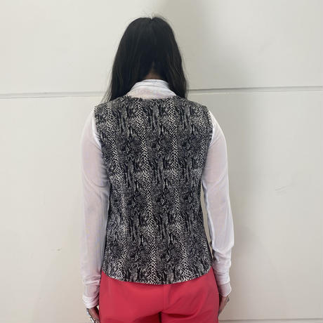 90s~ python patterned no-sleeve tops