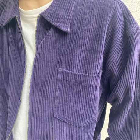 zip up L/S corduroy shirt (PPL)