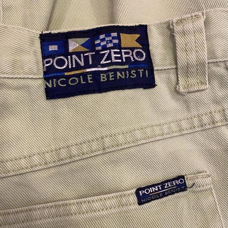 90s tapered color denim pants
