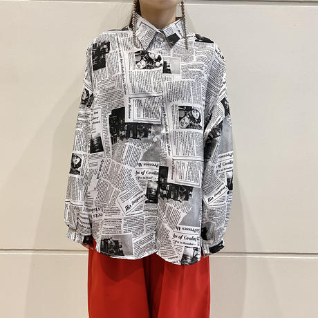 90s news paper design shirt