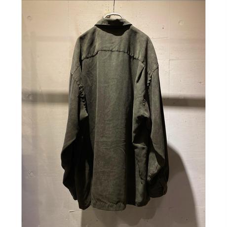 oversized fake suède shirt(KHK)