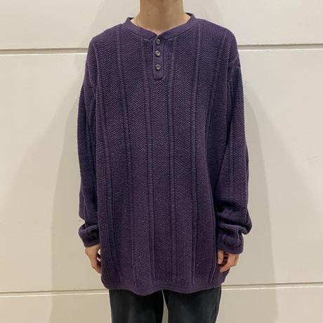 90s henry-neck knit sweater