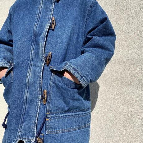 90s duffle design boa denim jacket