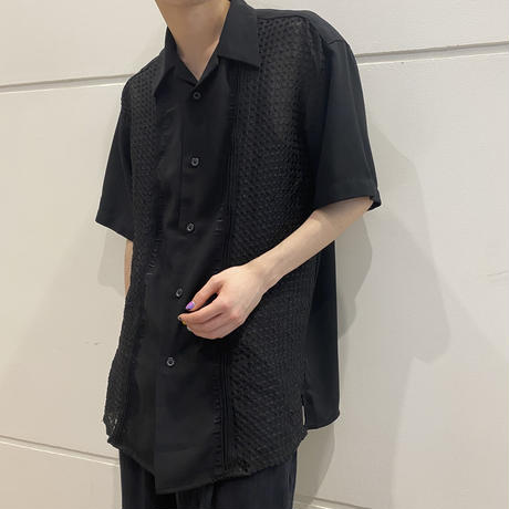 90s~ design see-through S/S shirt