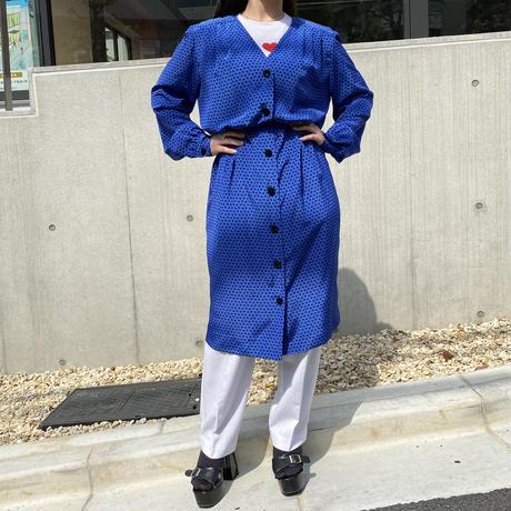 90a L/S design long dress