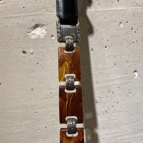 """""""BRIGHTON"""" Western design leather belt"""