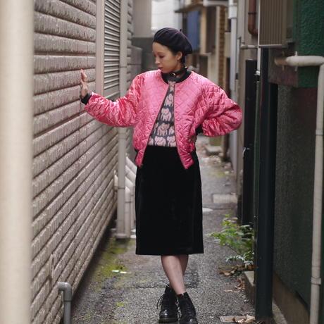 Velours pencil skirt
